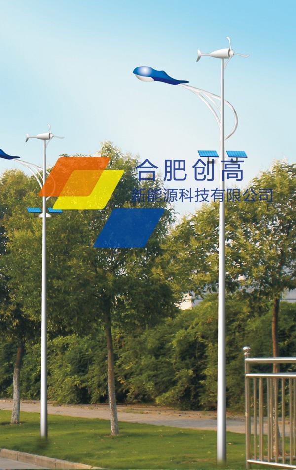 名称:FG002太阳能风能互补路灯7-14米 新农村建设推荐款式 编号:CG-FG002 高度:7M,热镀锌杆,外表喷塑处理(可根据要求设计) 系统电压:DC12V 功率:80W-240W 适配光源:LED光源 每天工作:8h,(可根据客户要求设计) 阴雨天数:2~7天(可根据要求设计) 光通总量:3000Lm 光效:100~110Lm/W 照度:12Lux~30Lux(可根据要求设计) 抗风力:41.